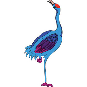 Crane Cartoon Vharacter - Free vector #208679