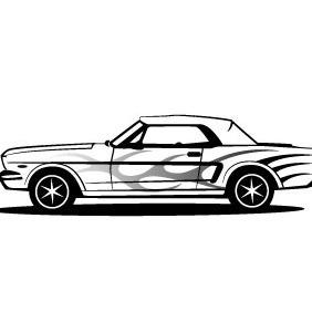 Mustang Car Vector - Free vector #208699