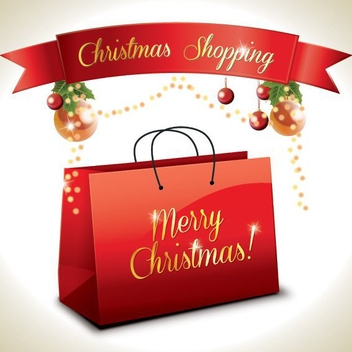 Christmas Shopping - Free vector #208829