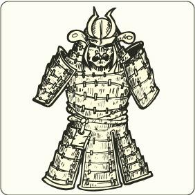 Japanese Samurai Armor - Free vector #208839