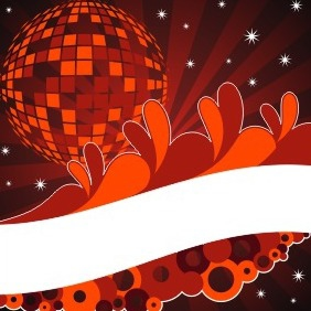 Disco Ball Background - Kostenloses vector #208879