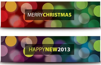 Christmas and New Year Banners - Free vector #208929