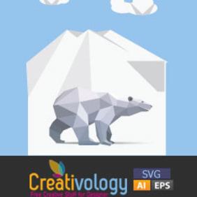 Free Vector Origami Polar Bear - Free vector #208989