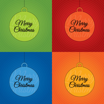 Merry Christmas Cards - vector gratuit #208999