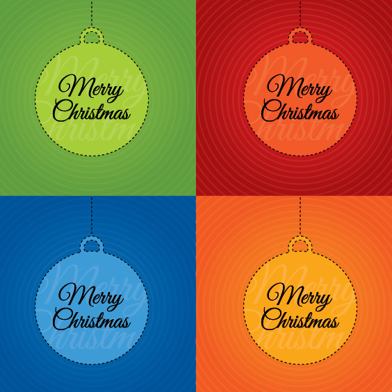 Merry Christmas Cards - Free vector #208999