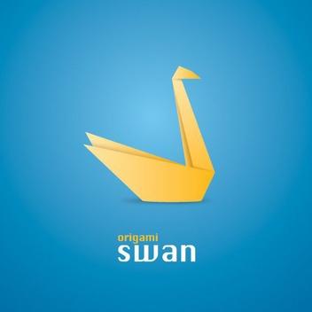 Origami Swan - Free vector #209139