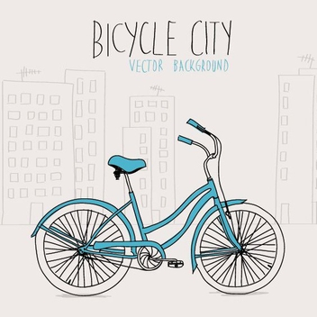 Bicycle City - vector gratuit #209149