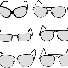 Simplistic Glasses - vector #209249 gratis
