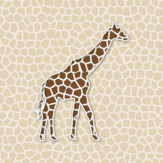 fond de girafe - vector gratuit #209299