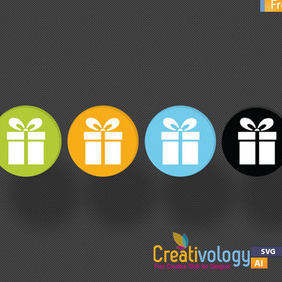 Gift Box Vector - Free vector #209369