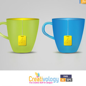 Free Vector Tea Cup - vector #209379 gratis