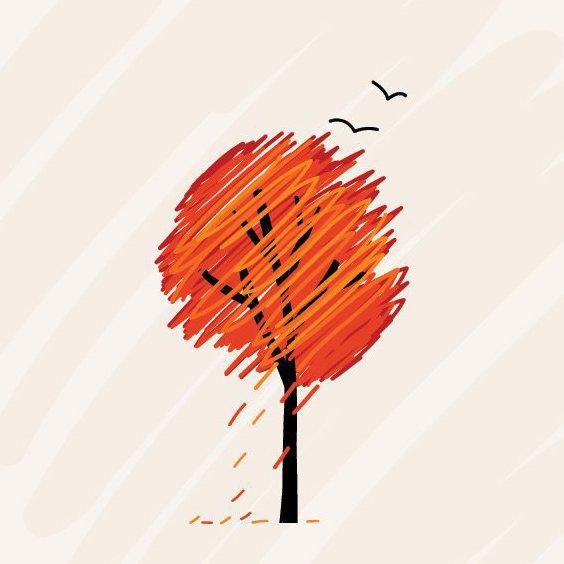 árbol de otoño - vector #209409 gratis