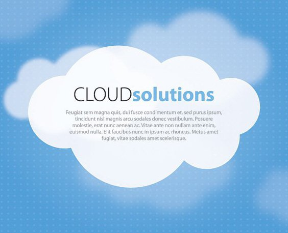 Solutions Cloud - vector gratuit(e) #209449