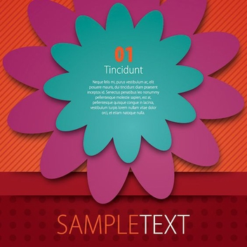 Colorful Flyer Design - Free vector #209519