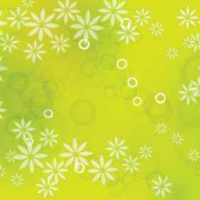 Wonderful Green Floral Background - Free vector #209529