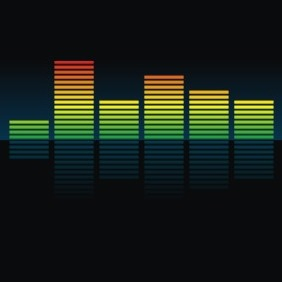 Colorful Equalizer - vector gratuit #209559