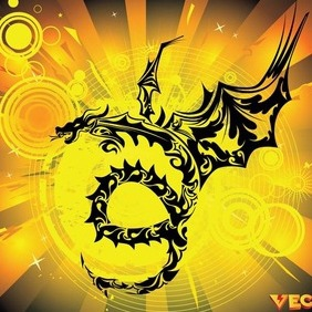 Dragon 2. - vector gratuit #209659