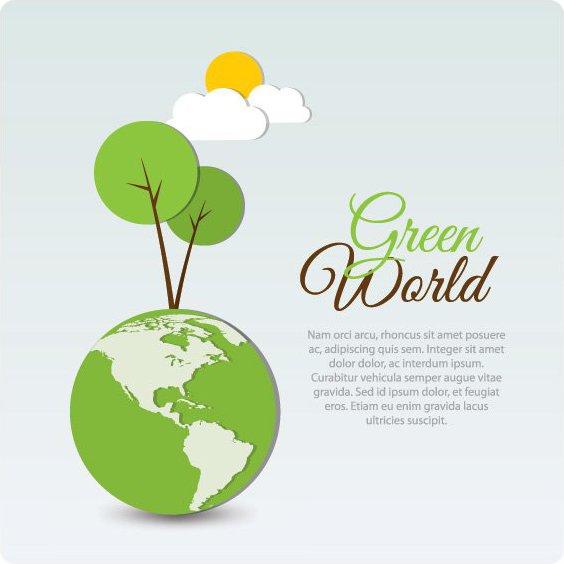 monde vert - vector gratuit #209669