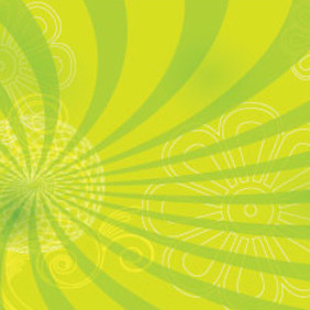 Flower With Green Abstract Art Design - vector gratuit #209729