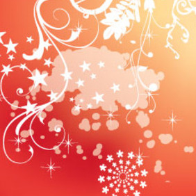 Orange Swirls With White Splash Free Design - бесплатный vector #209809