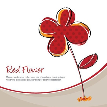 Red Flower - vector gratuit #209839