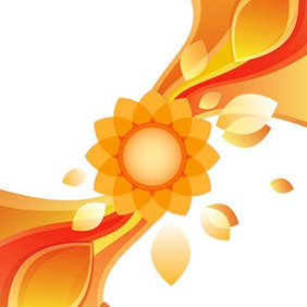 Abstract Flower Background Free Vector - Free vector #209959