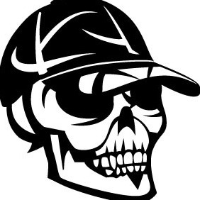 Skull With Cap Vector Image - бесплатный vector #209969
