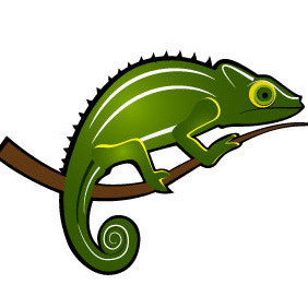 Chameleon Vector Image - Free vector #209989
