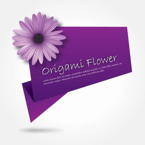 Origami Fleur - Free vector #210019