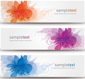 Blossom Banners - Free vector #210059