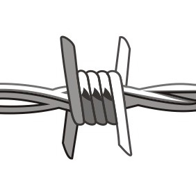 Barbed Wire - vector gratuit #210079
