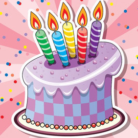 Cake With Candles - vector gratuit #210139