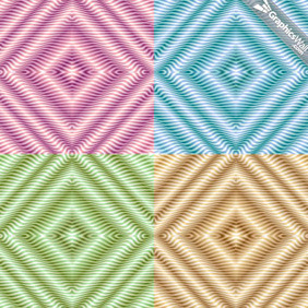 4 Seamless Vector Patterns - Free vector #210169