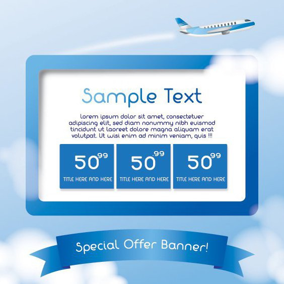 Travel Banner - Free vector #210179