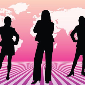 Three Businesswomen - vector gratuit #210269