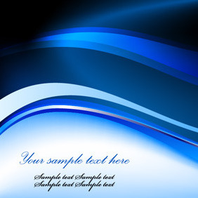 Blue Abstract Vector Template - Free vector #210479