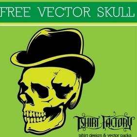 Dandy Skull - Free vector #210549