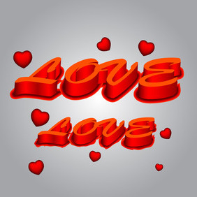 Love 3d Text - vector #210599 gratis