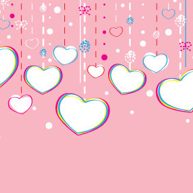 Decorations For Valentine's Day - vector gratuit #210649