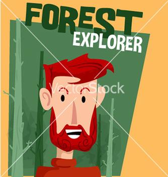 Free forest explorer cartoon vector - Free vector #210679