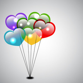 Vector Heart Balloons - бесплатный vector #210699
