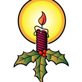 Candle Xmas Vector Image - Free vector #210809