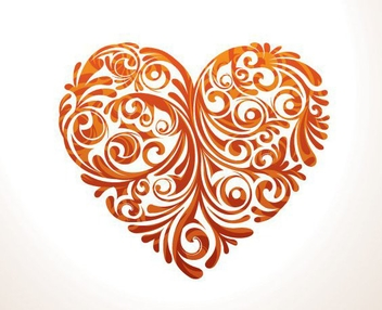 Floral Heart - Free vector #210819