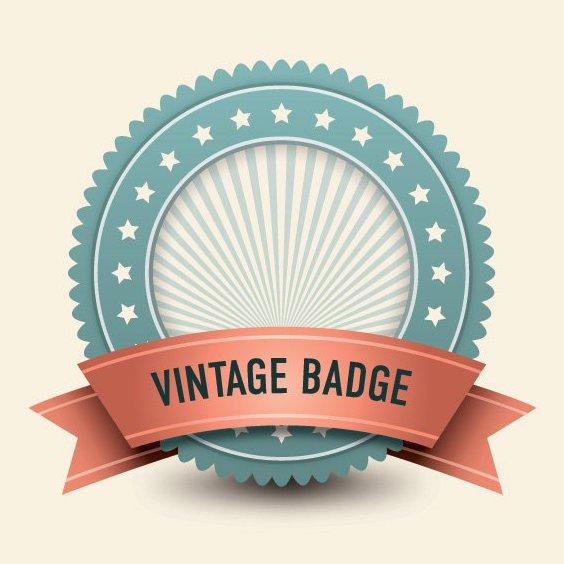 Vintage Badge - Free vector #210899