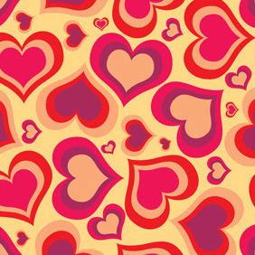 Heart Vector Pattern - Free vector #210959