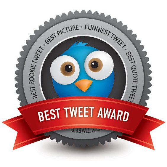 Best Tweet Award - Free vector #210999