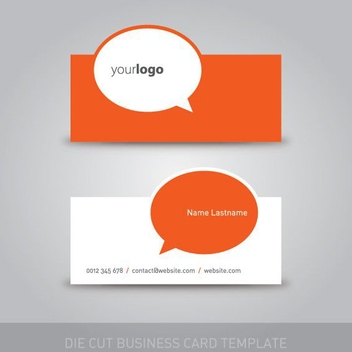 Die Cut Business Card Template - Free vector #211069