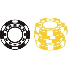 Poker Chips - vector gratuit #211109