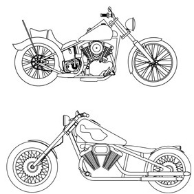 Free Vector- Harley Davidson Sketches - Free vector #211369