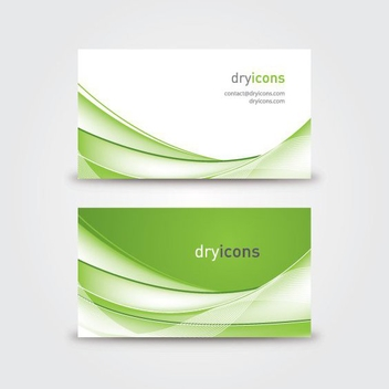 Wavy Business Card - Kostenloses vector #211459